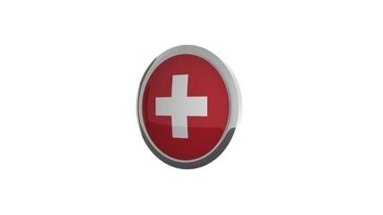 rotierender Button Flagge Schweiz