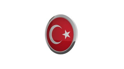 rotierender Button Flagge Türkei