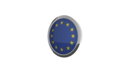 rotierender Button Flagge Europa
