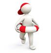 3D Man with Lifesaver