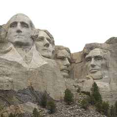 Isolated Mount Rushmore
