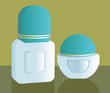 Illustration of two make up containers