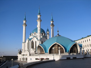 Mosque Kul Sharif in territory of the Kazan Kremlin