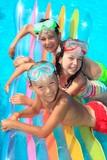 Children on float in pool - Fine Art prints
