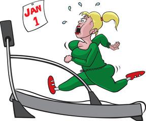 Treadmill woman