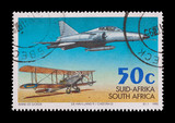 commemorative stamp of the South African airforce