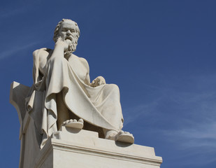 Socrates with copy space