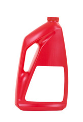Carpet Cleaning Detergent in Red Bottle