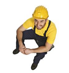 fine portrait of manual worker