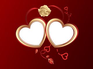 Dos corazónes san valentín