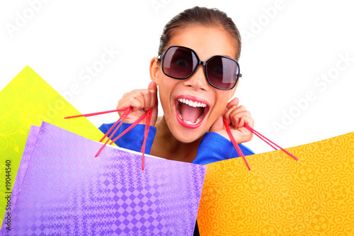 Funny woman shopping