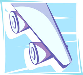 Illustration of wing of an aeroplane