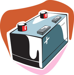 Illustration of a storage battery