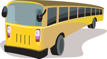 Illustration of a yellow transport bus