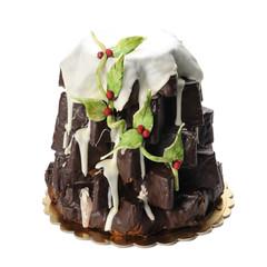 Pandoro ricoperto di cioccolato fondente