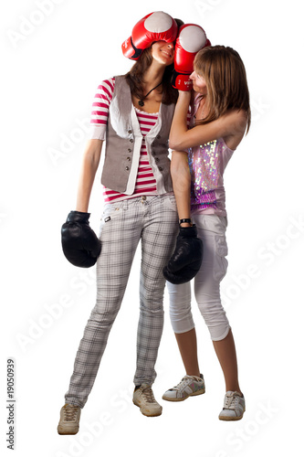 Two pretty boxing girls