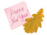 Happy new year handwritten message poster