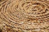 Floor mat spirals and texture (made from woven reeds background)