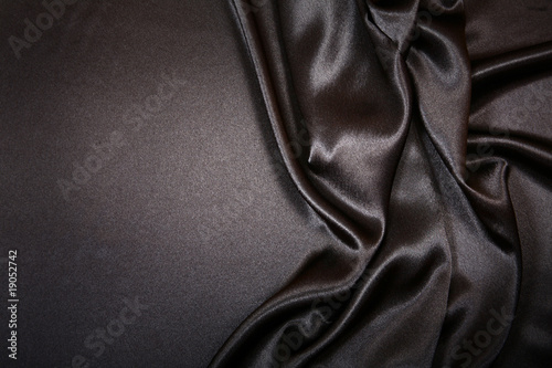 canvas print picture Beautiful and smooth Black satin with copy space