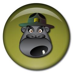 Chapa cabeza de sargento instructor