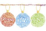 Happy New Year typographic poster