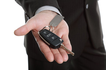 Handing over the car key