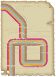 cartel papel viejo retro