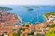 Nice view of port on Hvar island in Croatia