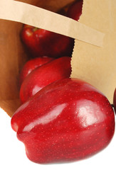 Apples and bag