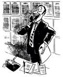 Man talking on the telephone