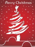 twinkle star background with xmas tree poster