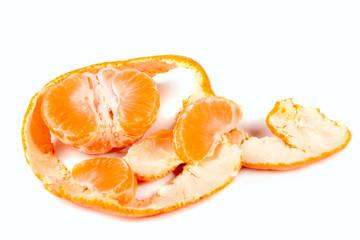 Peeled mandarin isolated