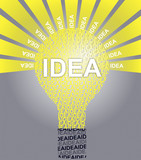 IDEA typographic bulb poster