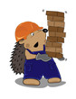 hedgehog builder with bricks
