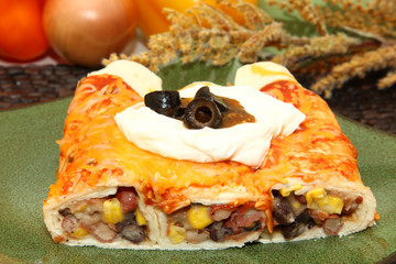 Three Bean Enchilada