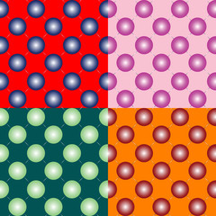 spheres seamless pattern