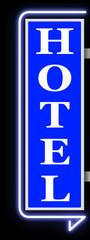 Hotel Blue Sign
