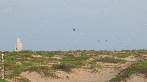 Kite surfers in Cabo Verde