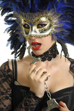 Beautiful woman with a carnival masque