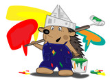 hedgehog house-painter