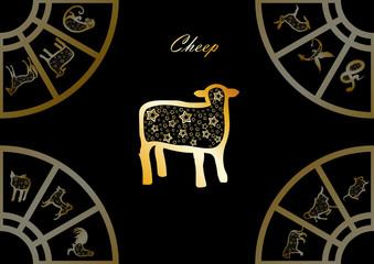 Golden chinese horoscope. Cheep