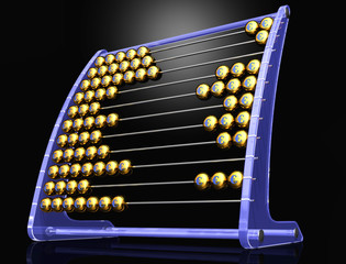 abacus with euros blackBG