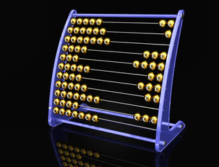 abacus with euros