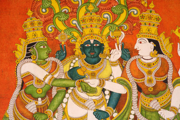 Meenakshi Temple painting
