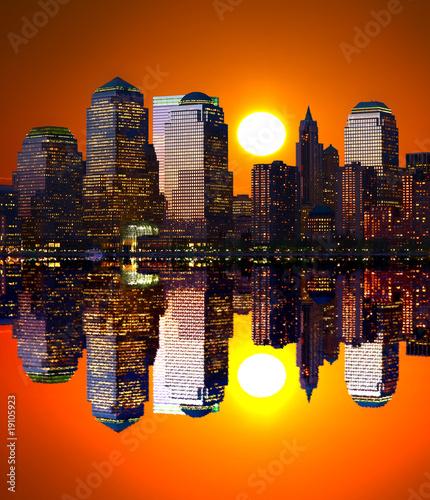Obraz na Szkle Lower Manhattan Skylines