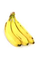 Three ripe bananas