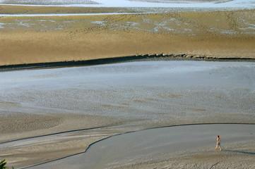 Camminare nella bassa marea