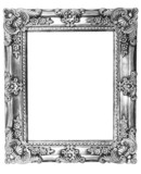 Retro Revival Old Silver Frame poster