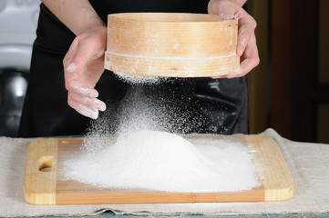 flour sieved