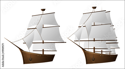 Old sailer ship
